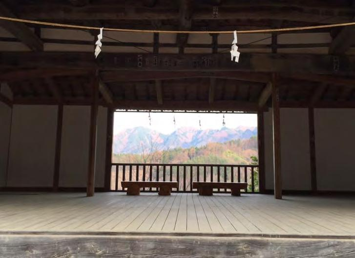 outdoor stage in Bissho-Onsen